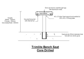 Bench Seat Core Drilled