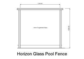 Horizon Glass Pool Fence (code: PFHG)