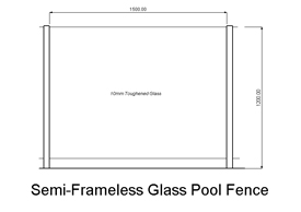 Semi-Frameless Glass Pool Fence (code: PFSFG)