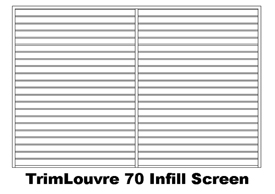 TrimLouvre 70 Infill Screen (code: ITL70)