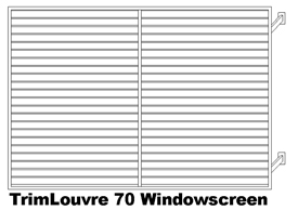 TrimLouvre 70 Windowscreen (code: WTL70)